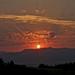 Západ slnka nad hoľami...