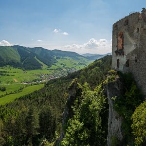 Pohľad z Lietavského hradu