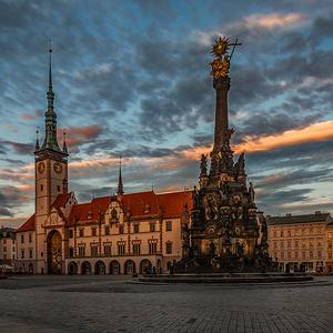 Večer na Olomouckom námestí