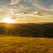 západ slnka nad Breznom