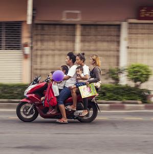 Rodinný výlet v Bangkoku