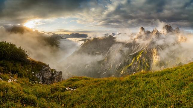 Ranné svetlo v Dolomitoch