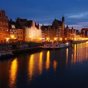 Nočný Gdaňsk