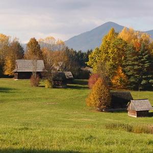 jesenná dedinka