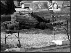 Odpočinok bezdomovca