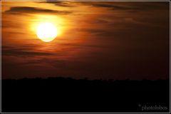 západ slnka na záhorí