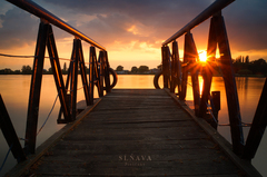 západ slnka na Sĺňave II