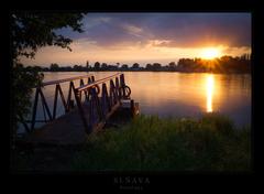 západ slnka na Sĺňave