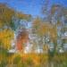 jesenná maľba na vode