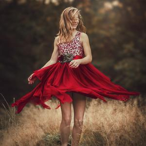 červena