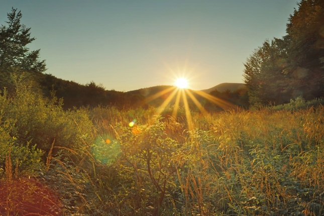 Sunset of Poloniny