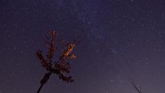 Nočná obloha pri 25% mesiaci