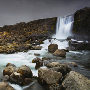 Pingvellir - Oxarafoss waterfall