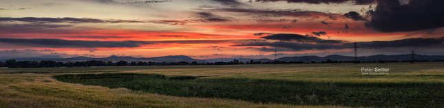 Západ slnka - panoráma
