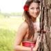 Dievča s kvetom