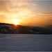 Západ slnka na svahu ...