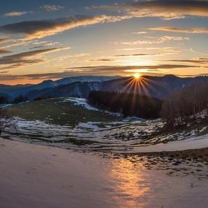 Západ Slnka nad Veľkou Fatrou