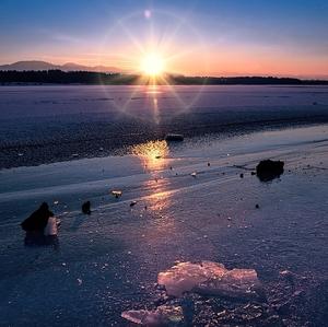 Mrazivý západ slnka na Mare I.