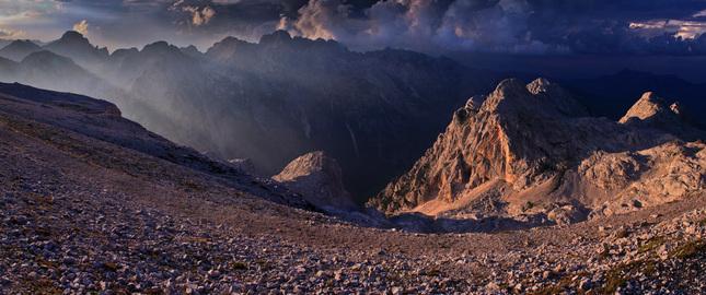 Dark Evening In The Julian Alps