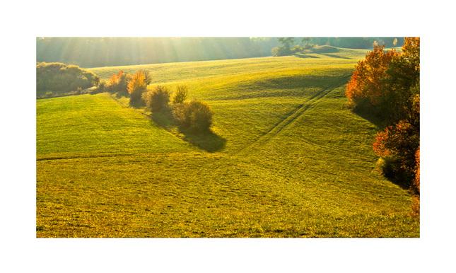 jeseným lúčom pohladené