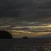 zapad slnka nad Trondheimfjordom