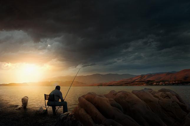 Rybačka na mori
