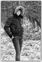 dievča  v lese