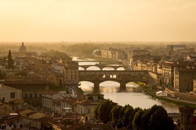 Florencia pri západe slnka