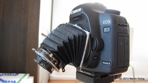 CARL ZEISS TESSAR na Canon 5D m2 za 3 EUR?