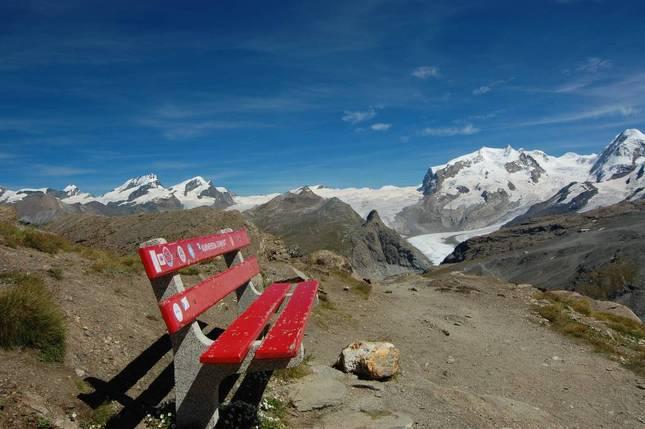 Lavička a la Monte Rosa