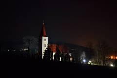 nočný kostol - Velké Uherce