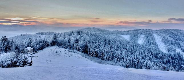 Západ slnka nad Čergovom
