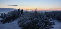 Západ slnka z Lysej