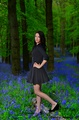 Black Lady in Blue Forest