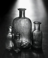 sklenené fľašky