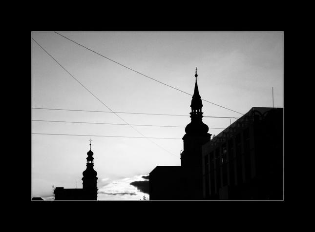 mestské siluety...