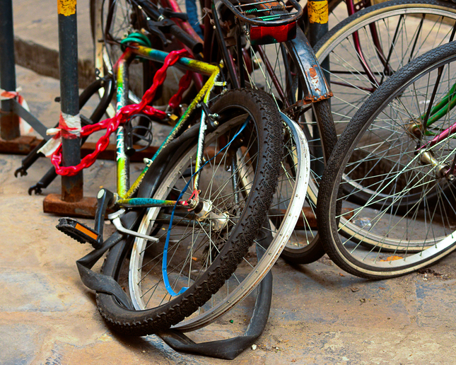 Old wasted bikes