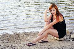 .. on the beach