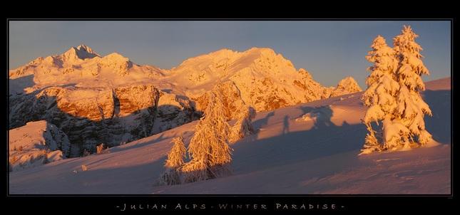 julske alpy v zime