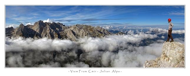 """na """"balkone"""" v Julskych Alpach"""