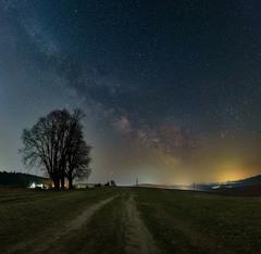 Mliečna dráha pri dube