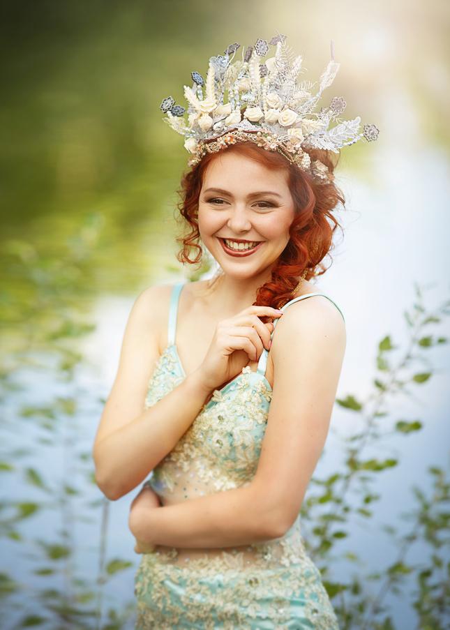 usmiata jazerná víla
