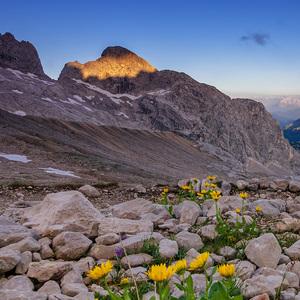 Ráno v Alpách