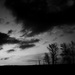 003 Západ slnka čiernobielo