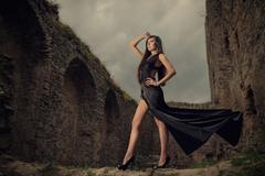 Princess in a black