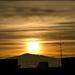 Východ slnka nad Pustým Hradom
