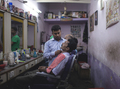 Barber shop in India