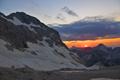Západ slnka na Triglave