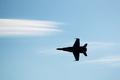 F/A-18 letí oblohou