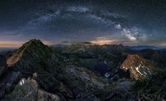 Mliečna dráha nad Tatrami